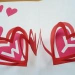 ハートが飛び出すバレンタインカードの作り方(手作りポップアップカード)