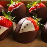 レシピ:イチゴのチョコレートディップの作り方 デザインいろいろ