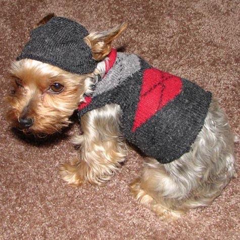 犬の服と帽子の作り方