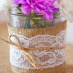 ジャム瓶の花瓶